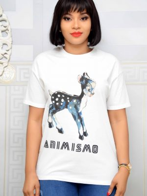 """White """"ANIM IS MO"""" T-Shirt"""